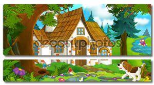 Мультфильм-сцены - дом