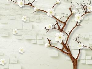 Закругленные прямоугольники, цветущие вишни
