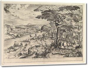 Брейгель. Пейзаж с путешествующими в Эммаус