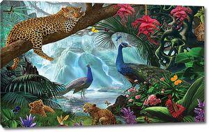 Леопарды с павлинами
