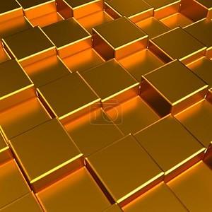Абстрактный фон в трехмерные кубы металл