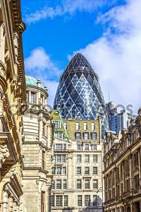 Архитектура Лондона, делового района, футуристический дизайн