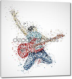 Абстрактный гитарист
