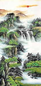 Водопадный поток  по склонам