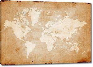 старинная мировая карта.