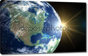 Земли и солнца. Восход пространства Америки