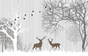 Фигуры двух оленей