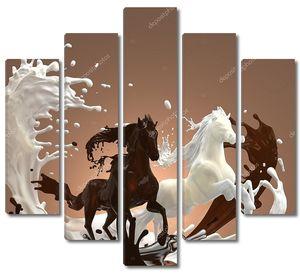 Шоколад в форме лошадей
