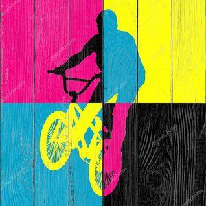 Поездка велосипедов вектор