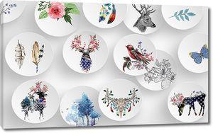 Рисунки на тарелочках