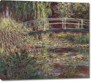 Клод Моне. Японский мостик. Пруд с водяными лилиями, симфония в розовом