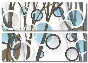 Прозрачные круги с деревьями