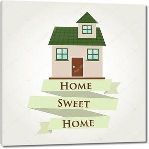 Зеленый дом милый дом с ленты знак