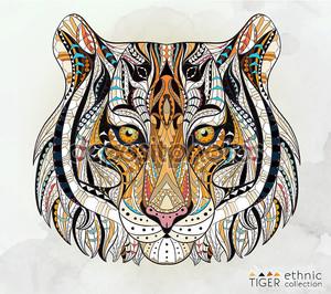 Узорные Голова тигра
