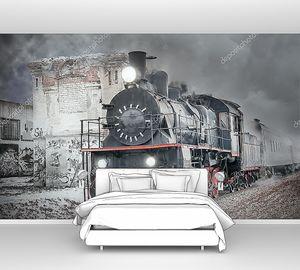 Ретро паровой поезд