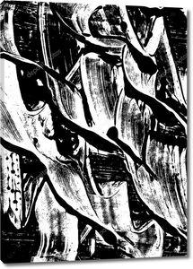 Черно-белый абстрактный акварельный фон