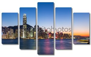 Красивый ландшафт Hong Kong