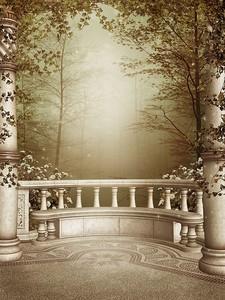 Патио с колоннами