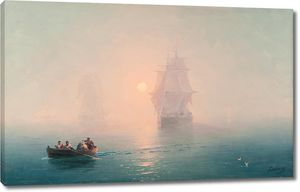 Айвазовский. Военный корабль