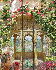 Прекрасная беседка с цветами и красивым видом