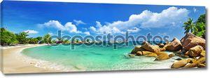 Тропический рай - Сейшельские острова, панорамный вид