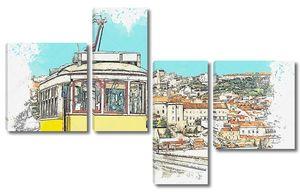Лиссабонский трамвай .