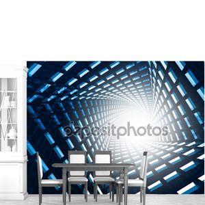 Абстрактный футуристический туннель