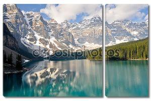 моренные озера, скалистые горы, Канада