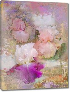 Нарисованные полевые цветы