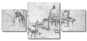 Венеция. Черно-белый эскиз