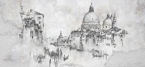 Венеция, Черно-белый эскиз