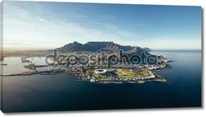 Прибрежные птичьего полета от Кейптауна, Южная Африка
