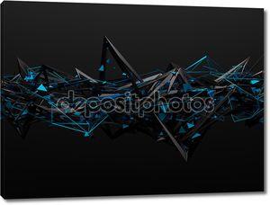 Абстрактные 3d-рендеринга хаотичной структуры.