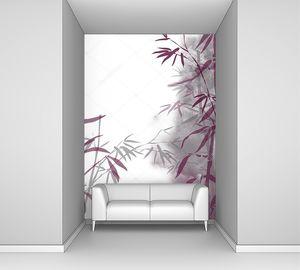 Бамбук на туманном фоне