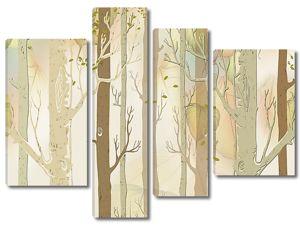 Листья падают с деревьев