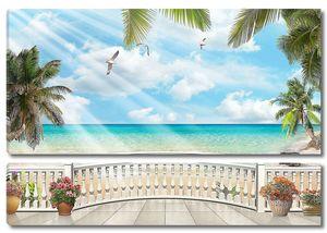 Сказочная терраса с пальмами