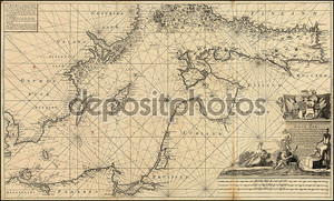 Старая карта Балтийского моря