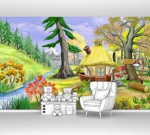 Небольшая сказка дом у реки в осенний лес