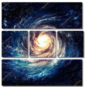 Красивая спиральная галактика