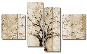 Контур дерева на стене