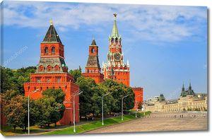 Красная площадь и Кремлевские башни, Москва, Россия
