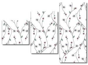Узор из веток с цветами