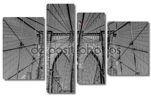 Арки Бруклинского моста в Нью-Йорке