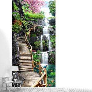 Мостки вверх водопада