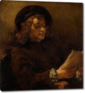 Рембрандт. Сын Рембрандта Титус за чтением