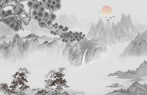 Туман над горной рекой