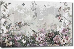 Нежная цветочная абстракция