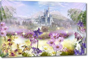 Цветочный сад перед замком