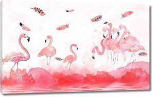Перья над фламинго