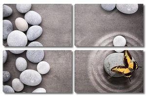 Спа-камни, большая бабочка